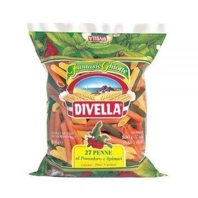Паста Divella Пенне Зити с помидорами и шпинатом