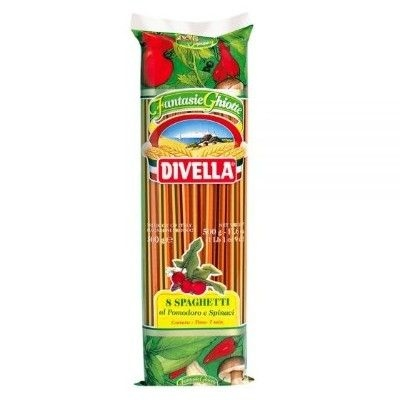 Паста Divella Спагетти Ristorante с помидорами и шпинатом