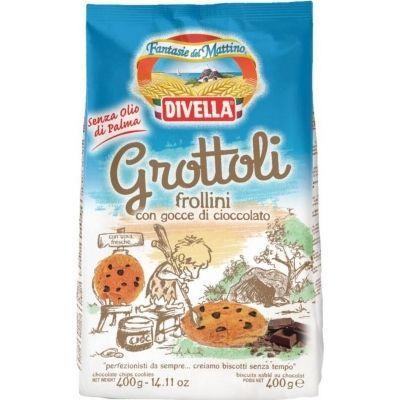 Печенье Divella Гроттоли шоколадные капли