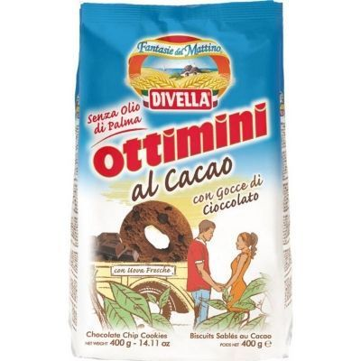 Печенье Divella Оттимини шоколадные