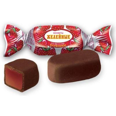 Конфеты Красный Октябрь Желейные со вкусом клубники
