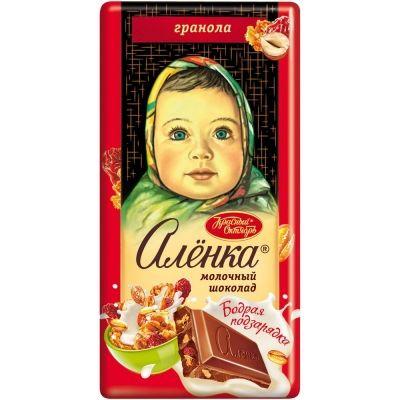 Шоколад Аленка бодрая подзарядка с гранолой
