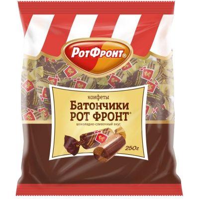 Конфеты Рот Фронт батончики с шоколадно-сливочным вкусом