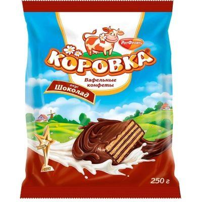 Конфеты Рот Фронт Коровка вкус шоколада (вафельная)