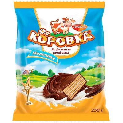 Конфеты Рот Фронт Коровка молочная (вафельная)