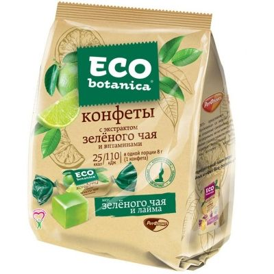 Конфеты Eco botanica с экстрактом зеленого чая и витаминами