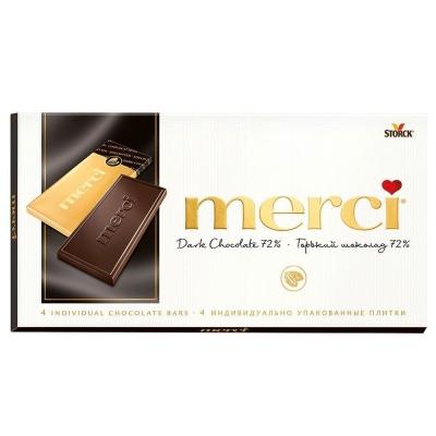 Шоколад 'Merci' горький 72%