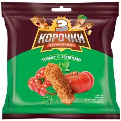 Сухарики 3 корочки томат с зеленью