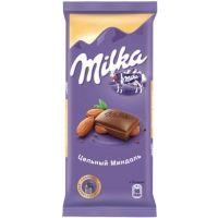 Шоколад Милка цельный миндаль