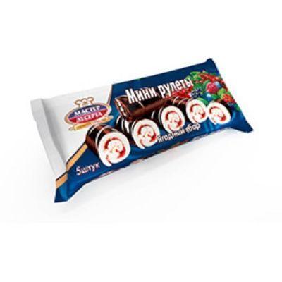 Мини-рулеты Мастер Десерта лесная ягода