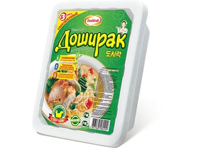 Лапша быстрого приготовления 'Доширак' острая курица
