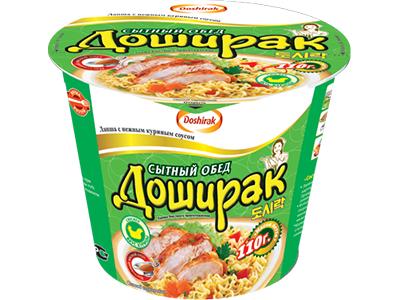 Лапша быстрого приготовления 'Доширак-Сытный обед' курица