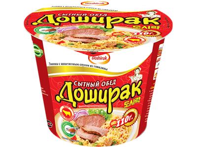 Лапша быстрого приготовления 'Доширак-Сытный обед' говядина