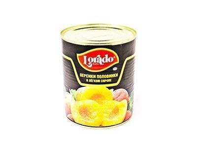 Персики консервированные 'Lorado' половинки в легком сиропе