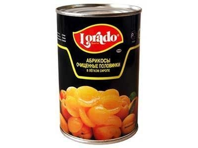 Абрикосы 'Lorado' половинки в легком сиропе