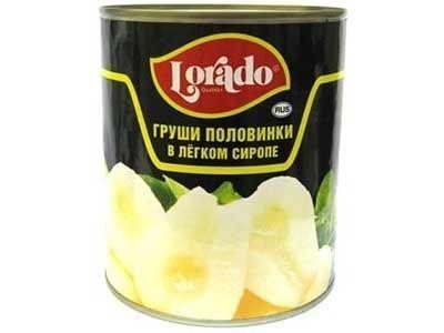 Груши 'Lorado' половинки в легком сиропе