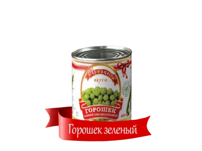 Горошек 'Принцесса вкуса' зеленый консервированный