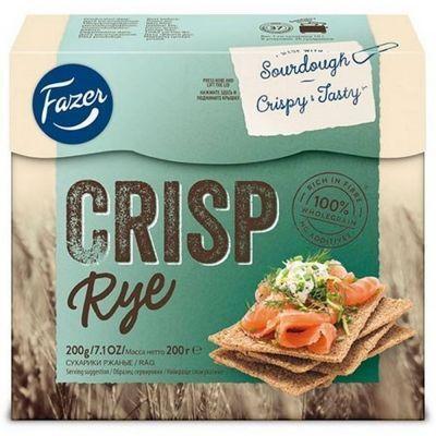 Хлебцы хрустящие Fazer Crisp ржаные