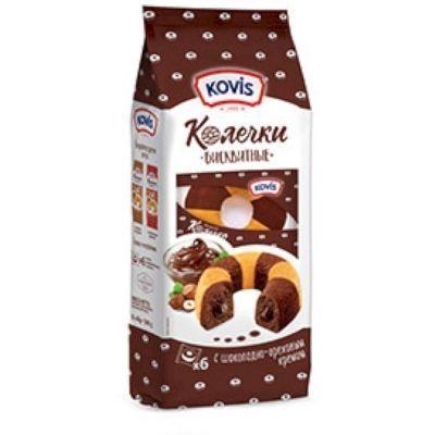 Пирожные Бисквитные Kovis Колечки с Шоколадно-ореховым джемом