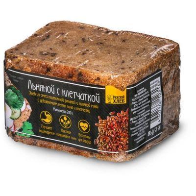 Хлеб Рижский хлеб из смеси пшеничной, ржаной и льняной муки 'Льняной с клетчаткой'