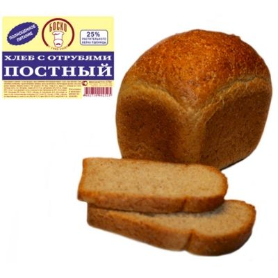 Хлеб Боско-Л постный белый с отрубями