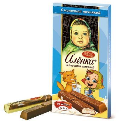 Шоколад Красный Октябрь Аленка с молочной начинкой