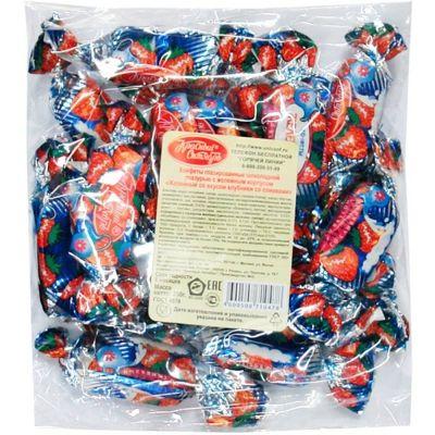 Конфеты желейные Красный Октябрь Клубника со сливками