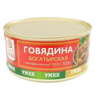 Говядина тушеная УМКК Богатырская
