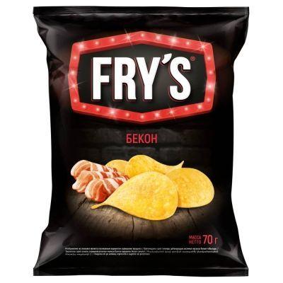 Чипсы картофельные 'FRY`S' бекон