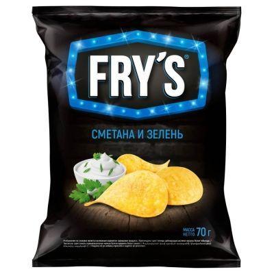 Чипсы картофельные 'FRY`S' сметана и зелень
