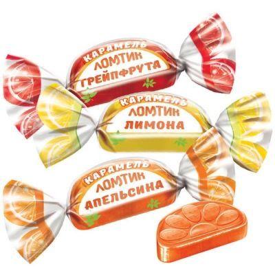 Карамель Яшкино Ломтик со вкусом апельсина лимона грейпфрута