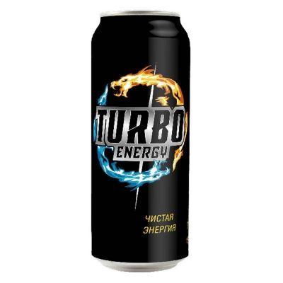 Напиток безалкогольный тонизирующий энергетический 'Турбо Энерджи' газированный ж/б