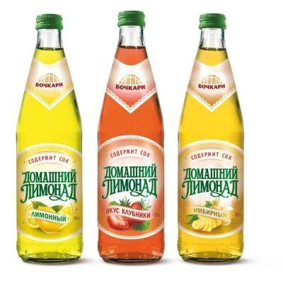 Напиток Бочкари 'Домашний лимонад Имбирный' газированный с/б