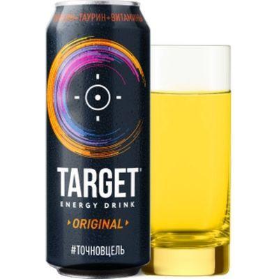 Тонизирующий энергетический напиток 'Таргет оригинальный' газированный ж/б
