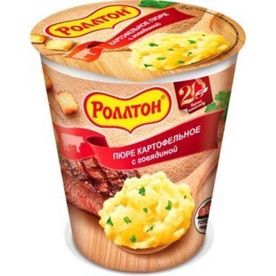 Картофельное пюре 'Роллтон' с Говядиной и сухариками