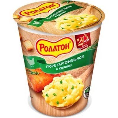 Картофельное пюре 'Роллтон' с Курицей и сухариками