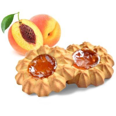 Печенье Баба Маня сдобное курабье с персиковой начинкой