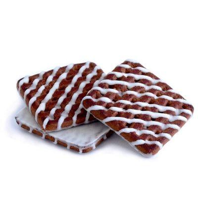 Печенье Деревенское сахарное с орехом и какао глазированное