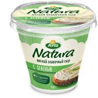 Сыр Арла Натура мягкий cливочный 55% с зеленью пл/ст