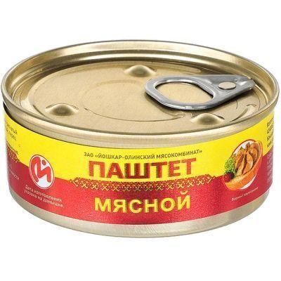 Консервы Йошкар-Ола Паштет мясной №1 с ключом