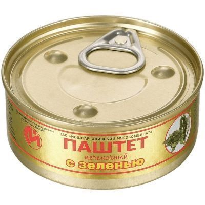 Консервы Йошкар-Ола Паштет печеночный с зеленью №1 ключ