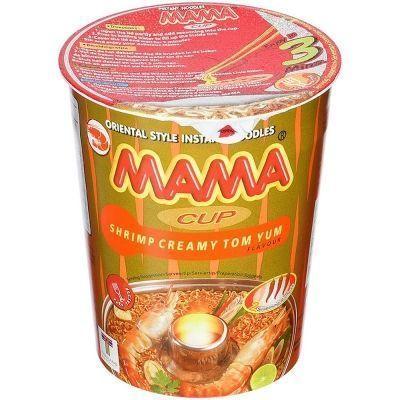 Лапша быстрого приготовления МАМА со вкусом Кремовый Том Ям стакан