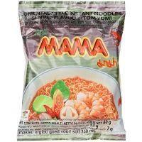 Лапша быстрого приготовления МАМА со вкусом креветки Том Ям брикет