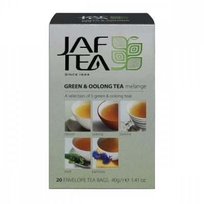Чай Jaf Tea 'Green & Oolong Melange' зеленый ассорти 5 видов по 4 сашета