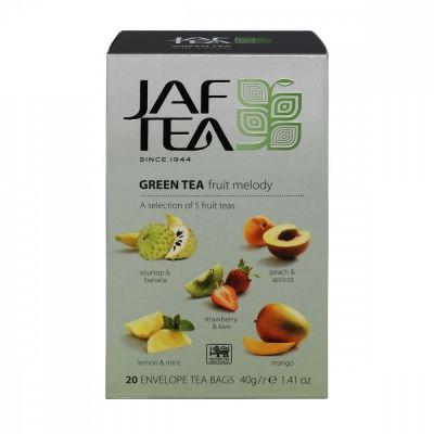 Чай Jaf Tea 'Green Fruit Melody' зеленый с добавками ассорти 5 видов по 4 сашета