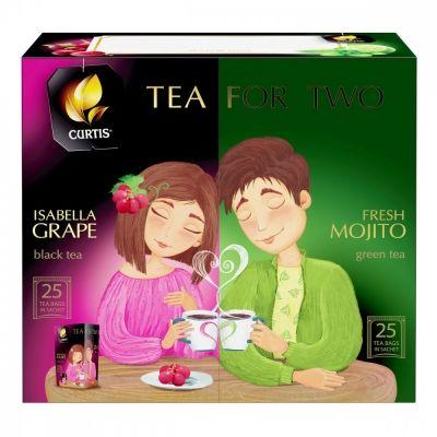 Чай Curtis 'Tea for two' ассорти 50 пакетиков