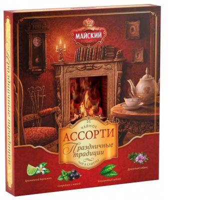 Чай Майский 'Праздничные традиции' ассорти 32 сашета