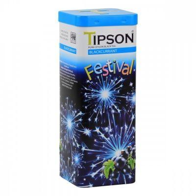 Чай Tipson 'Праздничная коллекция - Чёрная смородина' чёрный с добавками