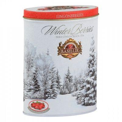 Чай Basilur 'Зимние ягоды - Брусника' чёрный с добавками