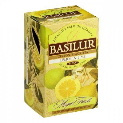 Чай Basilur 'Волшебные фрукты - Лимон и лайм' черный с добавками 20 пакетиков